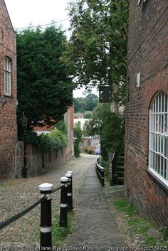 Conduit Hill in Rye, East Sussex, England