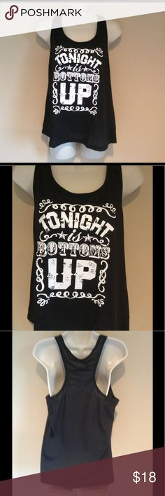 Tonight is Bottoms Up graphic beach tank Women XXL Women's XXL tank. The material is nice and thin perfect for hot summer days. Such a cute top to wear to the beach!! Tank is true to size. Smoke/animal free Tops Tank Tops