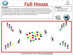 Full House card game/ running games