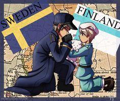 Sketch 02: Sweden x Finland by Neverjay.deviantart.com on @deviantART