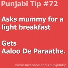 translates to. a kinda bread stuffed with potatoes. Punjabi Memes, Punjabi Quotes, Punjabi Captions, Desi Humor, Desi Memes, Asian Jokes, Browns Memes, Shayari Funny, Desi Problems