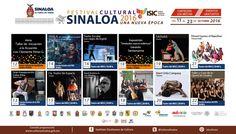 Cartelera del Festival Cultural Sinaloa 2016 #LosMochis