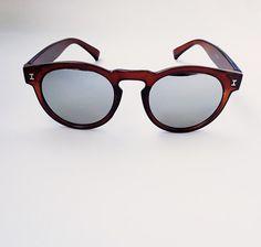 Vintage brown women sunglasses men occhiali da sole