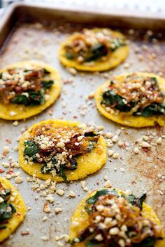 MINI POLENTA PIZZAS featured on Established California via House in the Hills