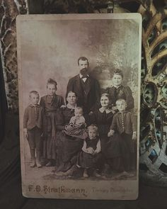 "Elizabeth Prall on Instagram: ""This is my newest antique cabinet card and possibly my favorite! I definitely favor the beautiful old photos that are of large families!…"""