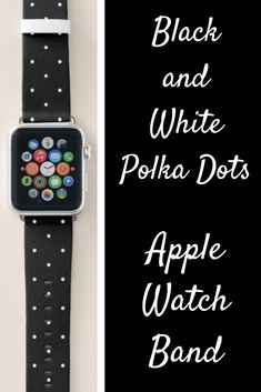 Black and White Polka Dots Apple Watch Band black apple watch band Black Apple Watch Band, Rose Gold Apple Watch, Best Apple Watch, Apple Watch Faces, Apple Watch Series 1, Apple Fitness, Best Mothers Day Gifts, Watch Bands, Print Design