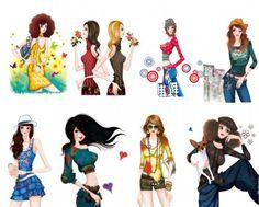 50 Fashion, Fashion Brands, Womens Fashion, Fashion Design, Female Fashion, Fashion Painting, Girls Life, Beautiful Models, Photoshop