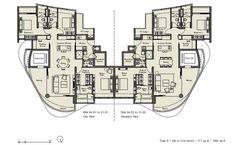 Ferrell-Residences FloorPlan Ferrell-Residences-Floorplan Ferrell-Residences-Floorplan Condo Floor Plans, Apartment Floor Plans, Floor Design, House Design, Small House Plans, Architecture Plan, Pent House, Building Plans, Facade