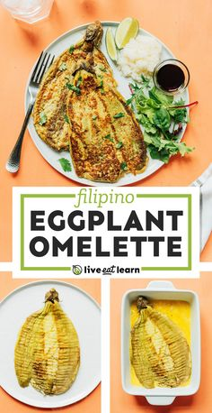 This Filipino Eggplant Omelet recipe (or Tortang Talong) has just 5 ingredients and is a delicious way to sneak veggies into your morning meal! #filipino #omelet #omelette #eggplant #brunch #breakfast #vegetarian Healthy Vegetarian Breakfast, Healthy Brunch, Best Vegetarian Recipes, Healthy Recipes On A Budget, Vegetarian Entrees, Healthy Food Options, Healthy Meals For Two, Clean Eating Recipes, Easy Dinner Recipes