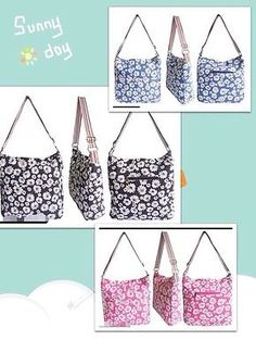 New Ladies Anna Smith Designer LYDC Bag Daisy Print School College Shoulder Bag