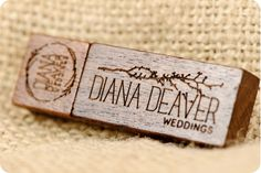 Wonderful Wooden USB Drive for Diana Deaver Weddings http://www.usbmemorydirect.com/products/wdr7.htm