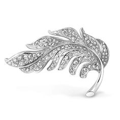Bling Jewelry Fashion Statement Crystal Pave Nature Large Scarf Leaf Brooch Pin for Women for Mother Silver Plated Brass Druzy Jewelry, Leaf Jewelry, Bling Jewelry, Crystal Jewelry, Bridal Jewelry, Jewellery, Silver Jewelry, Crystal Brooch, Silver Brooch
