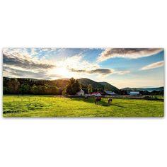 Trademark Fine Art Serene Sunset - Vermont Canvas Art by David Ayash, Size: 20 x 47, Multicolor