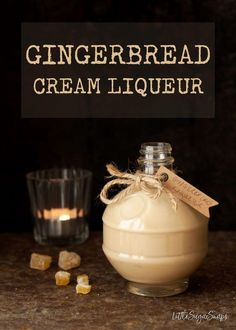 Gingerbread Cream Liqueur is deeply warming and comforting. This smart winter tipple blends spice-infused rum and fresh cream in a way that is hard to resist. Treat yourself, or a loved one, to a bottle this winter. #gingerbreadliqueur #creamliqueur #gingerbreadcreamliqueur #homemadebaileys #homemadeliqueur #gingerbreadrecipe