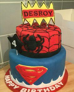 Superhero cake Superhero Cake, Cakes, Desserts, Food, Tailgate Desserts, Meal, Cake, Dessert, Eten