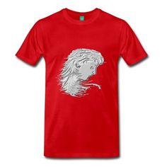 Männer Premium T-Shirt mit Motiv Frauenkopf Kraviert