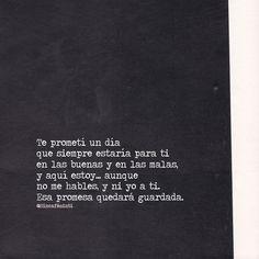 Esa promesa esta guardada