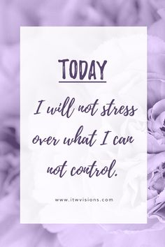Today I will not stress over what I can not contro. daily affirmation quote to help motivate and inspire you in personal life or business. focus on where you want to go not on what you fear is a great quote to keep in mind when you need a little push in the right direction or motivation. This inspiration quote is one of my favorites... I always realize that success comes with facing our fears and it is okay to make mistakes. hand lettered motivational quote, inspirational quote, quote of the…