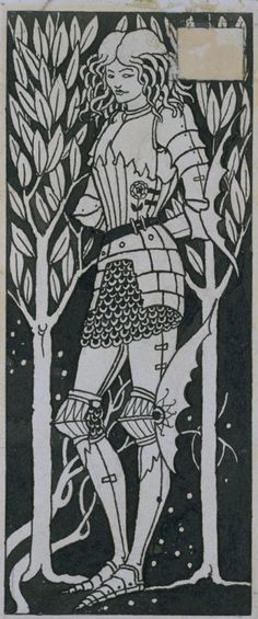 Aubrey Beardsley (1872 1898) A Knight, c.1892 Pen and black ink on paper
