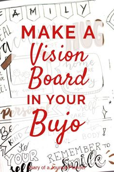 Learn hot to create a vision bord in your bujo. A easy step by step tutorial to create your own vision journal; a bullet journal vision board for Bullet Journal For Beginners, Bullet Journal How To Start A, Bullet Journal Spread, Bullet Journal Layout, Bullet Journal Inspiration, Bullet Journals, Bullet Journal Goal Setting, Study Inspiration, Inspiration Boards