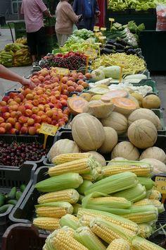 Farmers market, Bratislava, Slovakia Fresh Food Market, Fruit Shop, Fresh Fruits And Vegetables, World Market, The Fresh, Farmers Market, Harvest, Bratislava Slovakia, Around The Worlds