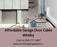 Whitby Garage Doors is a leading garage door repair and installation service provider company in Whitby. We offer high-quality garage door cable in affordable price. contact us