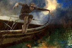 'Kanalschwimmer' by Harald Fischer