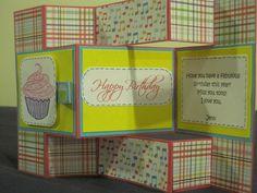 Tri-shutter birthday card