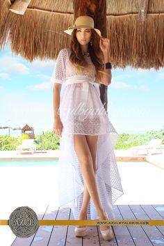 Coral Blue de Aldrin #dress #moda #style