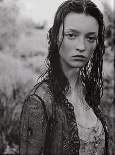 Audrey Marnay, The Bohemian Couture, Vogue Italia, September 1998 - Peter Lindbergh
