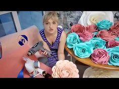 Как сделать недорогое основания для стойки из ростовых цветов - YouTube Paper Flower Decor, Flower Crafts, Flower Decorations, Paper Flowers, Giant Flowers, Large Flowers, Coffee Filter Crafts, Paper Magic, Banner