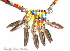 Check out this item in my Etsy shop https://www.etsy.com/listing/460584436/multicolored-beaded-necklace-and