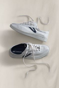 Tretorn... remember those?  These were the only tennis sneakers I would wear in the late 70's and through the 80's...have to get retro as I miss my Tretorns...I always wore this color (the blue accent).