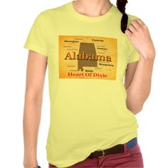 Aged Alabama State Pride Map Silhouette T-shirts