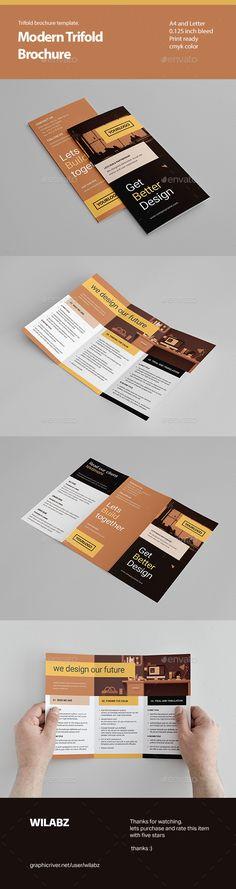Trifold Brochure Template INDD   Brochure Templates   Pinterest ...