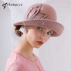 52d86e172abd59 Fibonacci 2018 New Brand Quality Wool Felt Mesh Women's Fedoras Autumn  Winter Hats Dome Elegant Banquet Fedora Hat [orc32921289693] - $57.05 :  PopNobility
