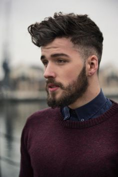 Wool over shirt - Charlie Winzar by Josh Brando. *I really love his haircut..