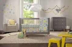 Babyletto 4-Piece Nursery Bedding Set Crib Sheet Skirt Stroller Blanket