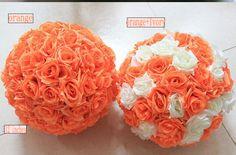 Rose Flower Ball  Wedding decoratin Ball Silk Kissing Ball Flowers Pomander Rose  Balls Muti-colors Multi-sizes (GA, USA) by FeatherParadise on Etsy