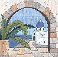 Aegean Arch 'Silken' Long Stitch Kit SLS11