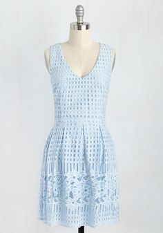 Fairest on the Terrace Dress in Sky. This pastel blue dress is like the window to your sol, and its revealing to every onlooker that youre a vision of divine style and grace. #blue #modcloth