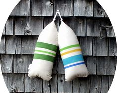 Maine Lobster Buoy Pillow. Buoy. Buoy by CobaltSkyStudio on Etsy