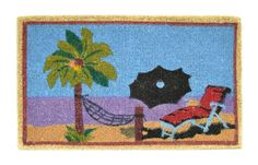 Imports Decor Printed Coir Doormat, Beach Scene, 18-Inch by 30-Inch * Learn more by visiting the image link. (This is an affiliate link) #Doormats