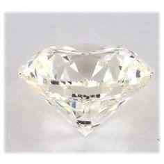 0.52 CT Natural Round Brilliant Cut Light Yellow Color Loose Diamond