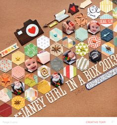 #papercraft #scrapbook #layout  JANEY GIRL IN A BOX by Paige Evans by PaigeEvans at @Studio_Calico