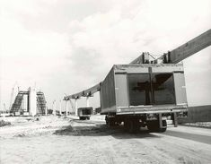 """Building the WDW """"Contemporary Resort"""" - pictured, modular hotel rooms en route"""