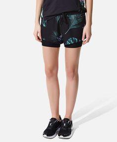 OYSHO   Short floral ciclista tejido combinado 22,99€ (2015)