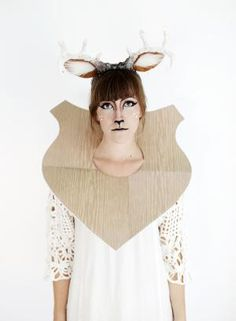 50+ Easy Halloween Costumes For Adults: DIY Taxidermy Deer Costume