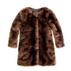 Girls' furry leopard coat: stop it