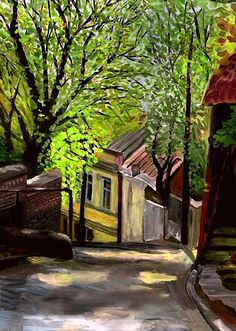 Winding street by Irina Stashkova (Russia)